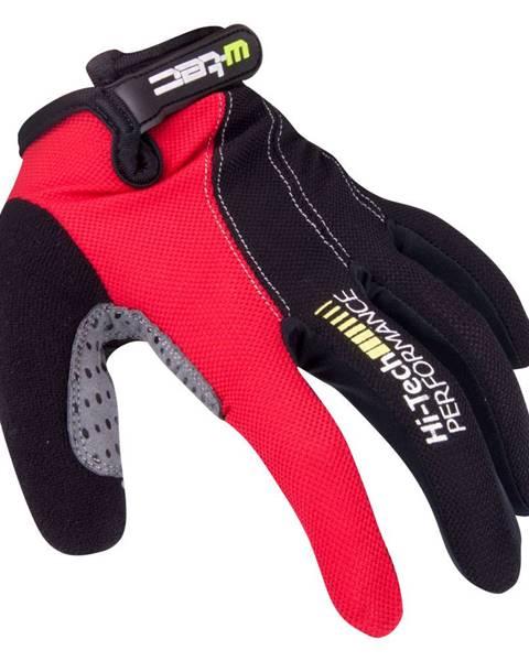 W-Tec Motokrosové rukavice W-TEC Ratyno čierno-červená - XXL