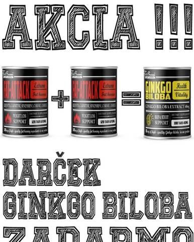 2+1 Zadarmo: Fat-Attack + Ginkgo Biloba Zadarmo - FitBoom 120 tbl. + 120 tbl. +100 tbl.