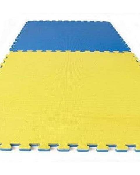 Sedco TATAMI PUZZLE podložka oboustranná 100x100x3 cm - Modro-žlutá