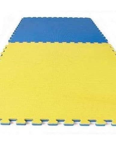 TATAMI PUZZLE podložka oboustranná 100x100x3 cm - Modro-žlutá