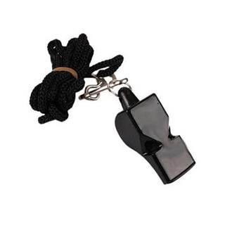 Píšťalka PROFI WOLF se šňůrkou - Černá