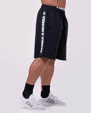 NEBBIA Pánske šortky Lampas Black  M