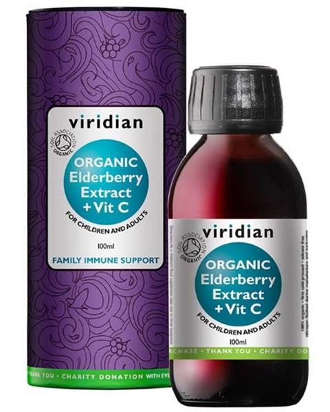 Viridian Viridian Elderberry Extract Organic + Vitamín C 100 ml