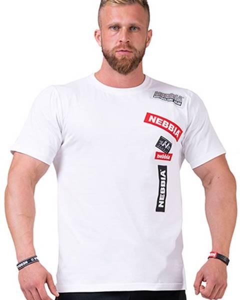 Nebbia Nebbia Labels tričko 171 biele variant: L