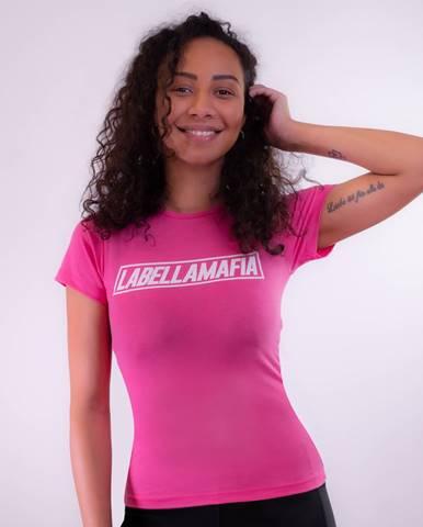 LABELLAMAFIA Dámske tričko Mesh Pink  S