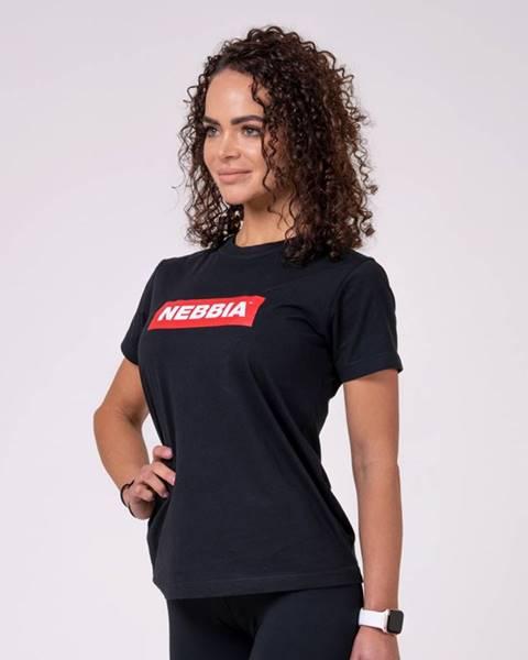 Nebbia NEBBIA Dámske tričko Basic Black  XS