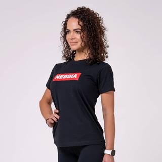 NEBBIA Dámske tričko Basic Black  XS