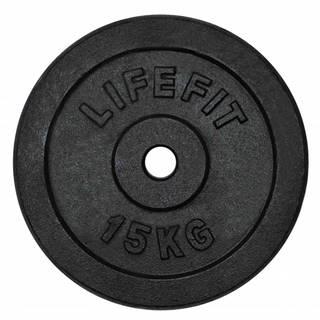 Kotouč LIFEFIT 15kg, kovový, pro 30mm tyč