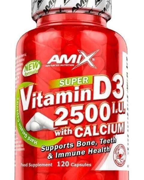 Amix Nutrition Amix Nutrition Amix Vitamin D3 2500 I.U. s vápnikom 120 kapsúl