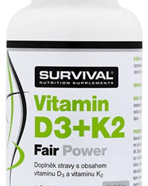 Survival Survival Vitamín D3 + K2 120 kapsúl