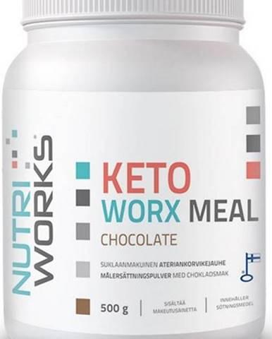 NutriWorks Keto Worx Meal 500 g variant: čokoláda