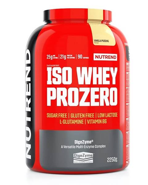Nutrend Práškový koncentrát Nutrend ISO WHEY Prozero 2250 g pudingová vanilka