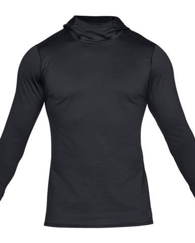 Pánske tričko Under Armour Fitted CG Hoodie Black /  / Charcoal - M