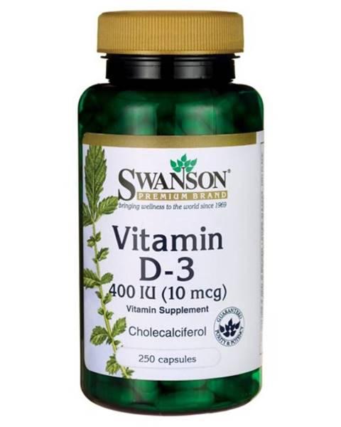 Swanson Swanson Vitamín D-3 400IU 250 kaps.