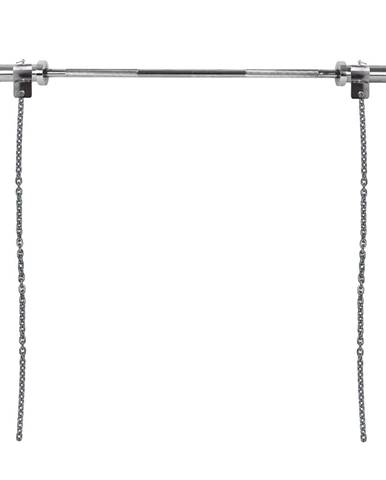 Vzpieračské reťaze s tyčou inSPORTline Chainbos Set 2x5 kg