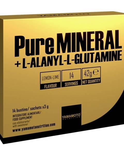 Yamamoto PureMINERAL + L-ALANYL-L-GLUTAMINE - Yamamoto 14 bags x 3 g Lemon Lime