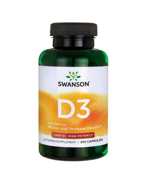 Swanson Swanson Vitamin D3 1000 IU 250 kaps.