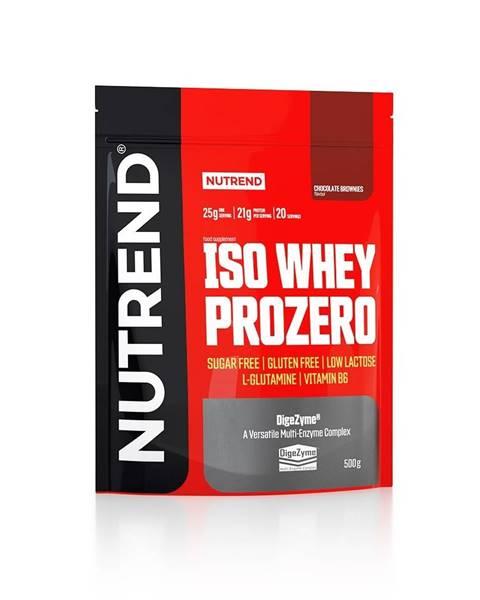 Nutrend Práškový koncentrát Nutrend ISO WHEY Prozero 500 g čokoládové brownies