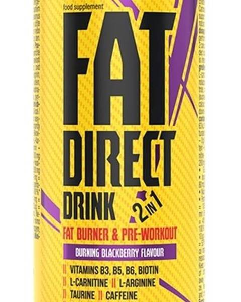 Nutrend Fat Direct Drink (spaľovač plus pumpa) - Nutrend 250 ml. Blackberry
