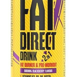Fat Direct Drink (spaľovač plus pumpa) - Nutrend 250 ml. Blackberry