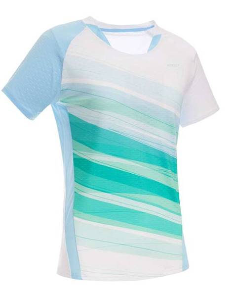 PERFLY PERFLY Tričko 560 Bielo-zeleno-modré