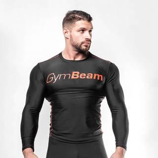 GymBeam Kompresné tričko Black/Red  S