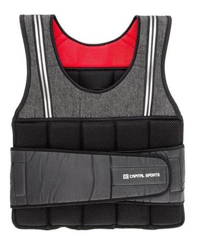 Capital Sports Vestpro 10, záťažová vesta s10 kg závažiami, celkom 23 závaží