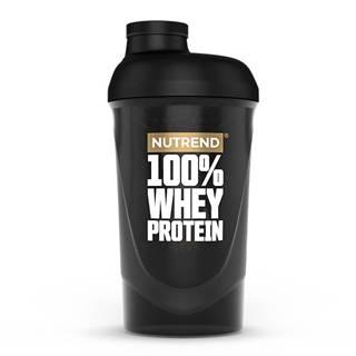 Shaker Nutrend 100% WHEY 600 ml čierna
