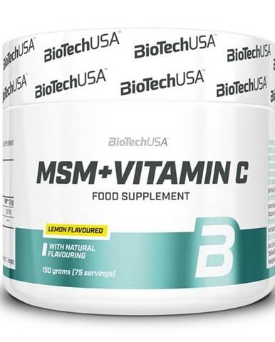 MSM + Vitamin C - Biotech USA 150 g Citrón