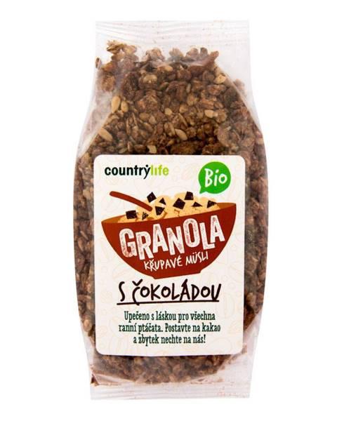 Country Life BIO COUNTRY LIFE Granola Chrumkavé ovsené müsli 350 g jablko
