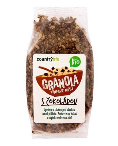 BIO COUNTRY LIFE Granola Chrumkavé ovsené müsli 350 g carob
