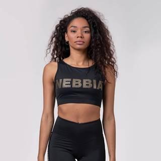 NEBBIA Športová podprsenka Intense Gold Mesh Black  XS