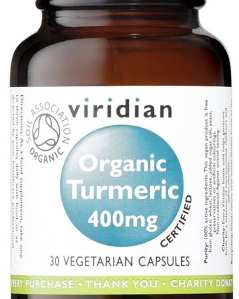Viridian Viridian Organic Turmeric 400 mg 90 kapsúl