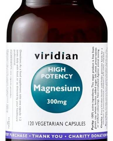 Viridian High Potency Magnesium 300 mg 120 kapsúl