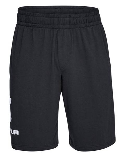 Under Armour Pánske športové kraťasy Under Armour Sportstyle Cotton Graphic Short Black/White - S