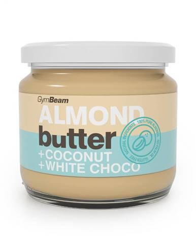 GymBeam Mandľové maslo s kokosom a bielou čokoládou 340 g