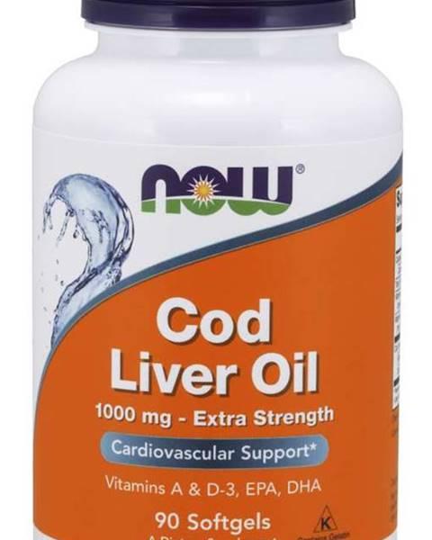 NOW Foods NOW Cod Liver Oil olej z tresčích jater 1000 mg 90 softgel kapsúl 90 kaps.