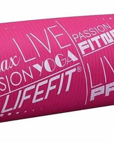 Podložka LIFEFIT YOGA MAT EXKLUZIV PLUS, 180x58x1,5cm, světle růžová