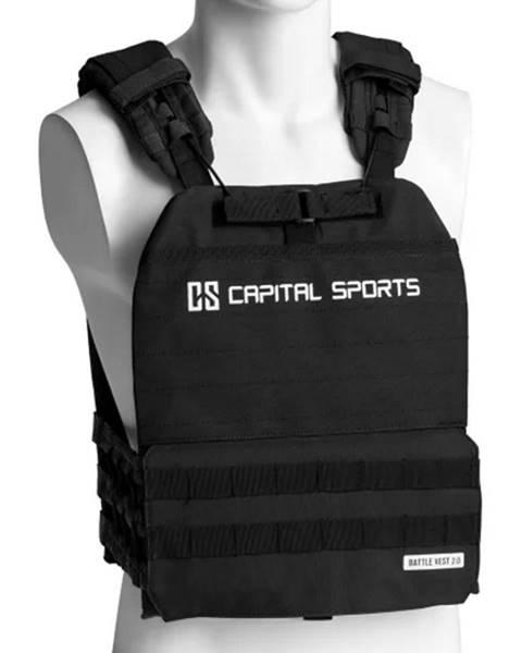 Capital Sports Záťažová vesta Capital Sports Battlevest 2.0 2 x 2,6 kg + 2 x 4 kg - cierna