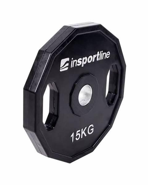Insportline Pogumovaný olympijský kotúč inSPORTline Ruberton 15 kg