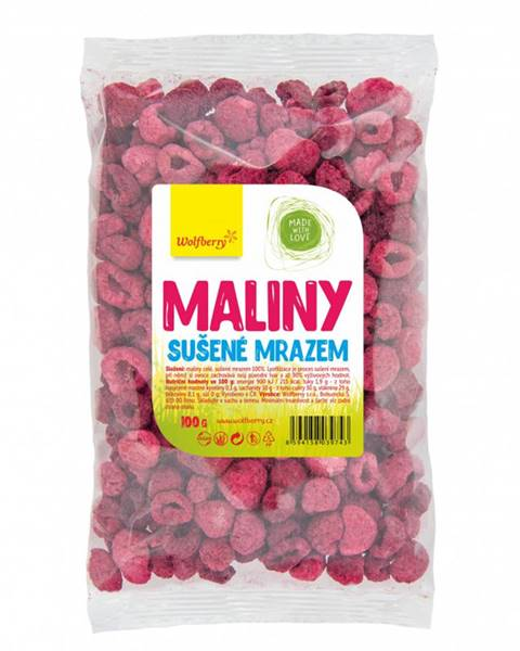 Wolfberry Wolfberry Maliny lyofilizované sušené mrazom 100 g
