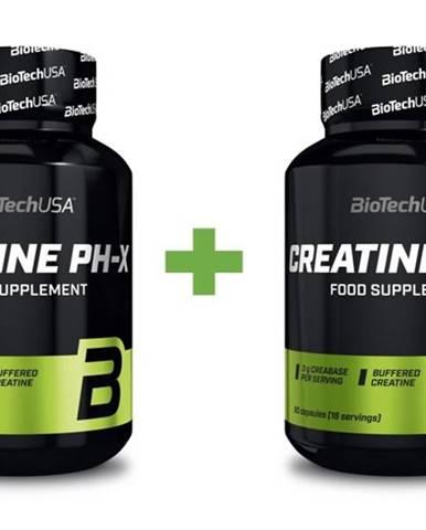 1+1 Zadarmo: Creatine PH-X - Biotech USA 90 kaps. + 90 kaps.