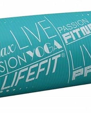 Podložka LIFEFIT YOGA MAT EXKLUZIV PLUS, 180x58x1,5cm, tyrkysová