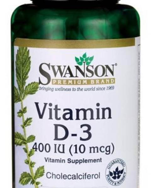 Swanson Swanson Vitamín D3 400 IU 250 kapsúl