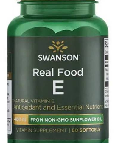 Swanson Real Food E 60 kapsúl