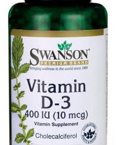 Swanson Vitamín D3 400 IU 250 kapsúl