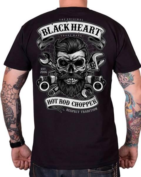 BLACK HEART Tričko BLACK HEART Respect Tradition čierna - M