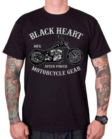 Tričko BLACK HEART Chopper čierna - M