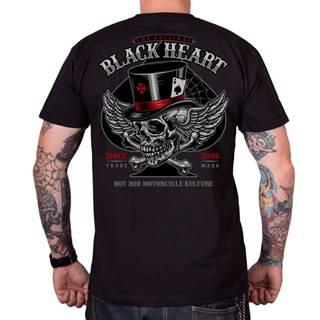 Tričko BLACK HEART Hat Skull šedá - M