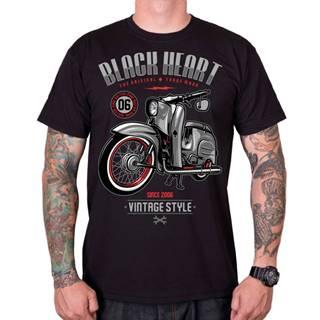 Tričko BLACK HEART Vintage Style čierna - L